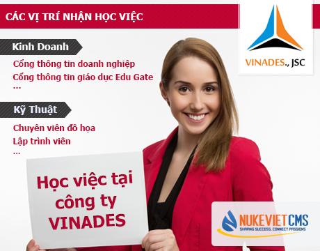 Học việc tại công ty VINADES